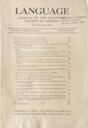 Language Journal of the Linguistic Society of America: Cover