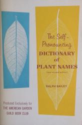 Self-Pronouncing Dictionary of Plant Names: Cover
