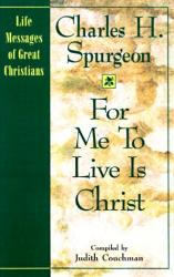 For Me to Live is Christ: Cover