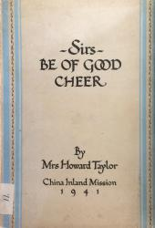 Sirs, Be of Good Cheer: Cover