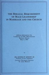 Biblical Requirement of Male Leadership in Marriage and the Church: Cover