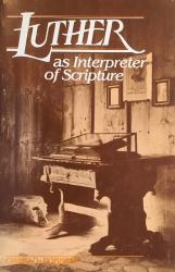 Luther as Interpreter of Scripture: Cover