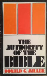 Authority of the Bible: Cover
