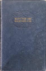 Kept for the Master's Use: Cover