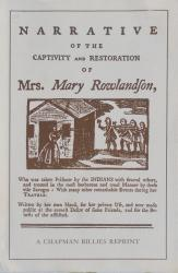 Narrative of the Capture and Rescue of Mary Rowlan: Cover