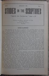 Studies in the Scriptures Volume XXXI 1952