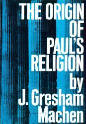 Origin of Paul's Religion: Cover